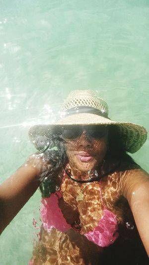 When we tryna Show Off and almost drown😯😢😲 St.lucia antics ,,, Vacations Rastawoman Tourist Hat 👄