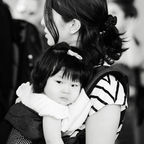 - Mom & Daughter || NYC Documentary Photography Streetphotography Nycphotographer EyeEm Best Shots eyeemphoto Travcimages Eye4photography  EyeEm Gallery Blackandwhite Photography Blackandwhite Bnw_collection Real People Women Child Childhood Females Girls Focus On Foreground Daughter Parent Bonding Family Togetherness