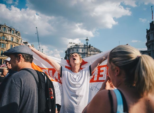 Right wing protesters in London.14/07/18 Angry EyeEm Best Shots Far Right Moving Through Europe Nikon Photojournalism Protest Day Documentary England Flag Hate People Protesters Real People Voilence The Photojournalist - 2018 EyeEm Awards