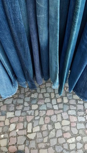 Cobblestone Cobbelstone Street Blue Backgrounds Material Pattern Vintage Clothing Old Clothes Flea Market Vintage Style Old Clothing Apparel Industry Apparel Ordered Jeans Jeans Texture Jeans Pattern Old Jeans Vintage Jeans Patterns & Textures Textile System Clothes Fabric Textured