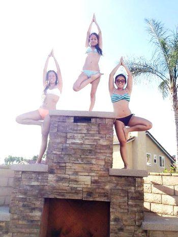Namaste 🙏 Yoga Namaste Friends Poolday