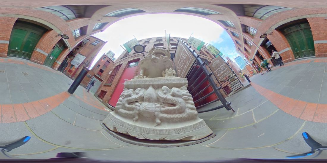 Chinatown Melbourne Art And Craft Day Fish-eye Lens No People Outdoors Sculpture Statue
