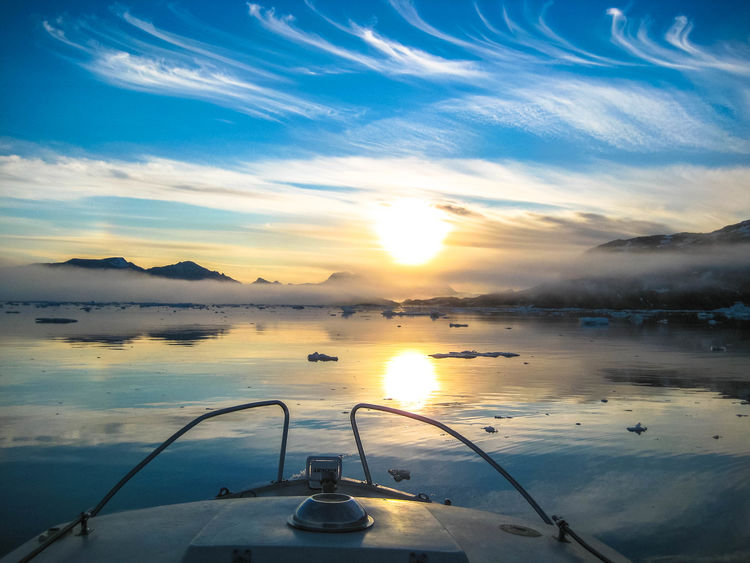 Midnight Sun Sailing Sunset Sailboat In Sunset Sailboat Icy Waters Iceberg Greenland Arctic Beauty In Nature Mountain Range Ice Sun Landscape Nature Mountain Mountains Beautiful Nature Snow Mountain Fog Foggy Day