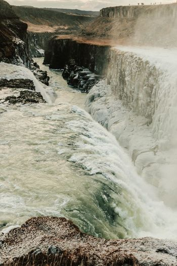 Another angle of the beautiful Gullfoss. Waterfall Iceland Frozen Nature The Golden Waterfall The Golden Circle Powerful Nature Humbling