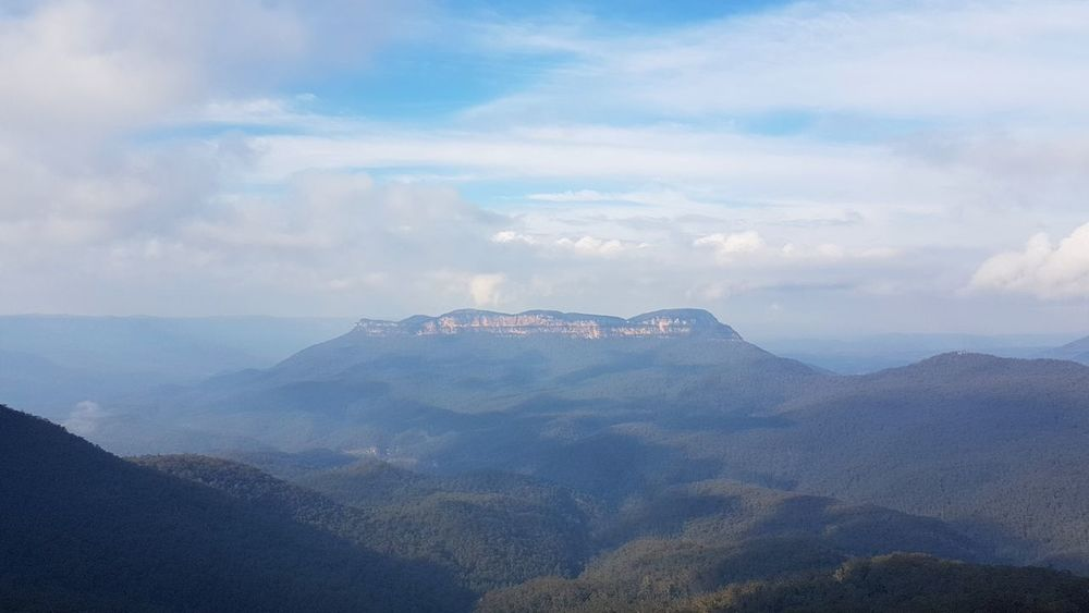 Mountain No People Nature Outdoors Day Beauty In Nature Sky Valley Valleys Blue Mountains Katoomba Cloudy Mountain Range Mountains And Sky Mountains And Valleys Mountainscape