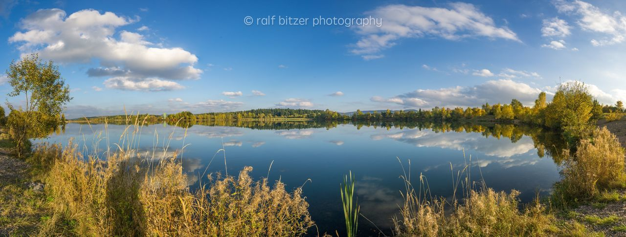 Reflection Water Nature Grass Lake Sky Outdoors No People Day Beauty In Nature Tree Scenics