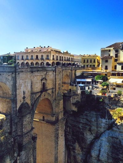 Ronda Spain Travel Destinations Clear Sky Architecture History Tourism Blue Day Tourist Arts Culture And Entertainment My Best Travel Photo