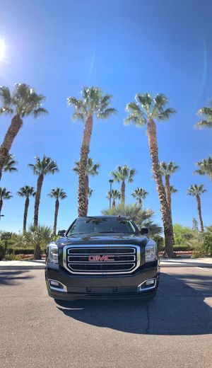 Picked up our ride! Now off to LA. Let's hit the road on this beautiful, sunny day… 😎🌴🌞 Road Trip Travel GMC SUV Palm Tree Palm Tree Plant Motor Vehicle Car Palm Tree Sky Day Blue Outdoors