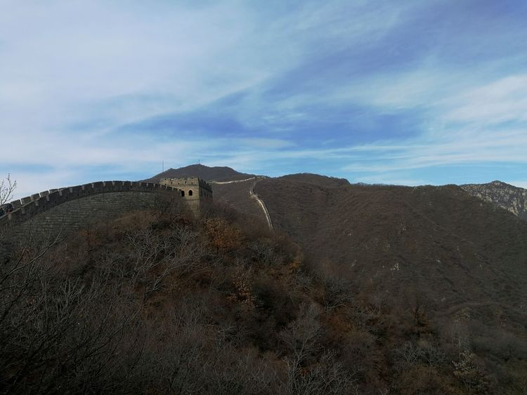 View of Mutianyu Great Wall No People Outdoors Sky Industry Landscape Day Architecture Nature