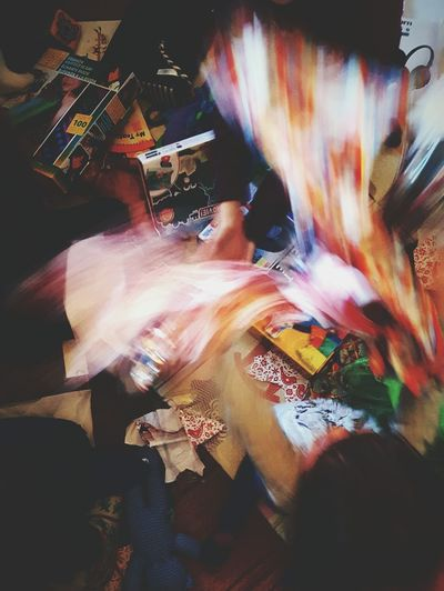 This Is Christmas day 27. Wrapping Paper Chaos Wrapping Paper Aftermath Presents Opening Presents Kids Being Kids Blurred Motion Colourful