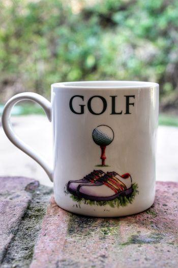 Mug Mugs Tea Time Coffee Time Coffee Break Tea Break China Mug Golf Mug Golfer's Mug Mug For Golfers White China Logo Mug
