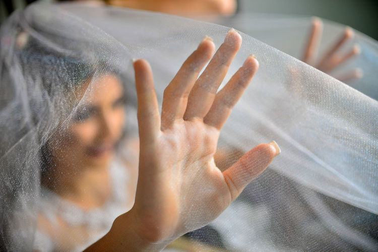EyeEm Best Shots Eye4photography  Getting Inspired Wedding Wedding Photography Wedding Dress One Person Human Hand Finger Unrecognizable Person Body Part Women Portrait Adult Hand Veil Dof