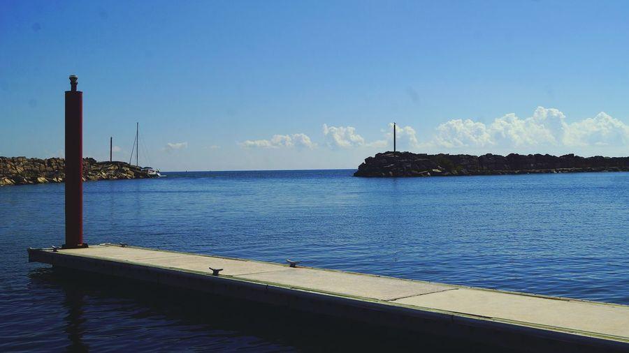 Dock Blue Sky