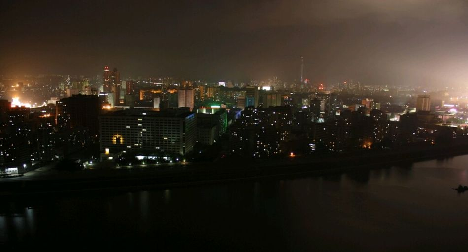 Pyongyang, North Korea by night Turn Your Lights Down Low