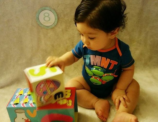 Danieljr Tmnt Verylatepost 8monthsold in this picture Awholemonthlate Oops