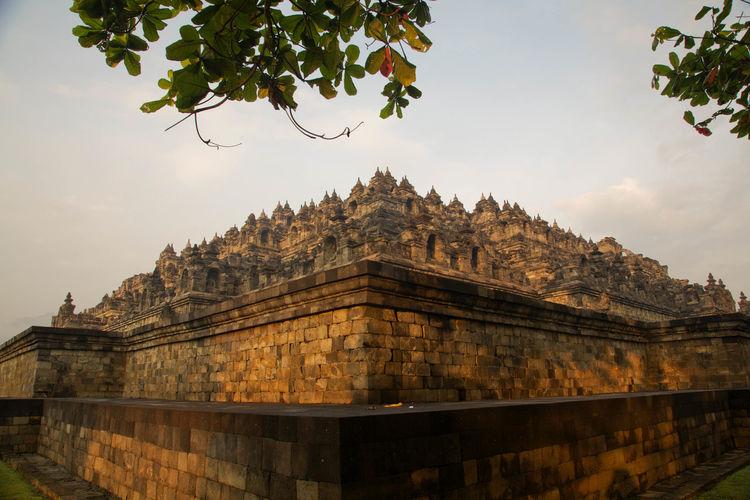 Borobudur temple against sky