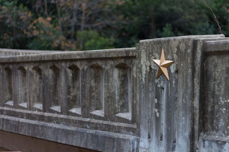 Texas star on a bridge Bridge Star Texas Star Austin Austin, TX Texas Lone Star Concrete Detail Day Outdoors No People EyeEmNewHere