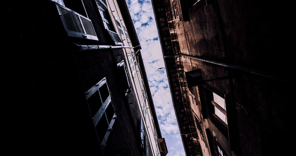 Architecture Blue Building Built Structure Day Low Angle View Nature No People Outdoors Part Of Sky The Street Photographer - 2016 EyeEm Awards