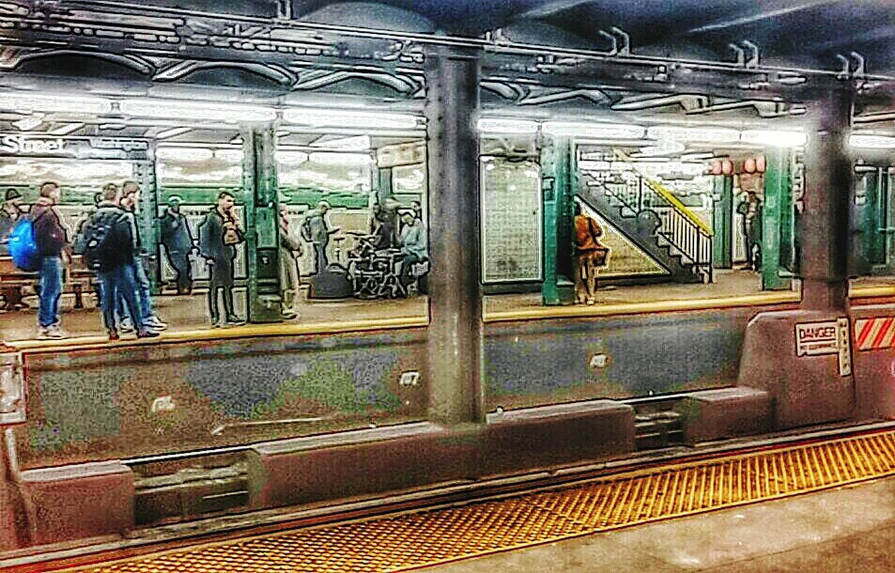 subway train, train - vehicle, public transportation, rail transportation, subway, transportation, railroad station, railroad track, passenger, passenger train, mode of transport, commuter, travel, station, indoors, commuter train, vehicle seat, city, people, adult, day
