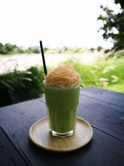 Green tea frappe Drink Refreshment