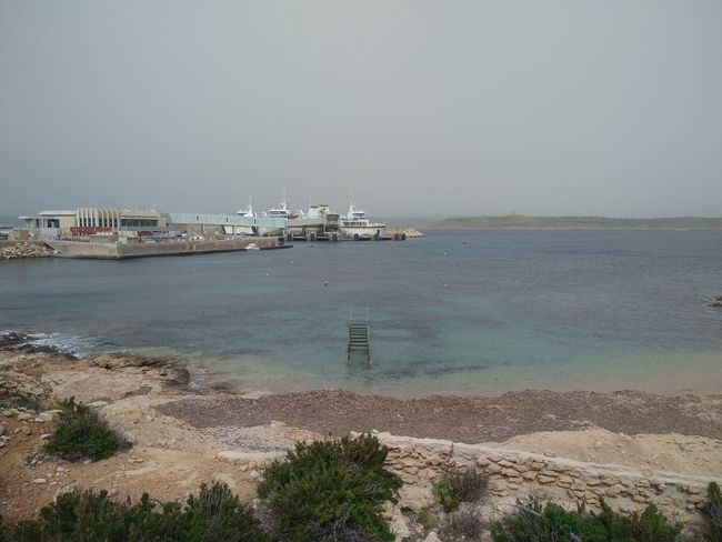 Bad Weather Cirkewwa Ferry Terminal Ferry Malta Mediterranean  Transportation Cirkewwa Day Sea Ship Sky