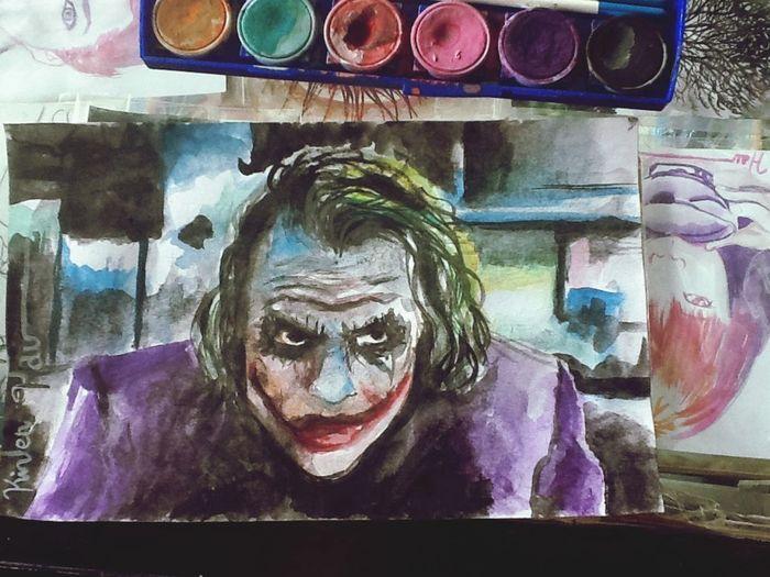 Joker watercolor ... Art Drawing Watercolor Painting