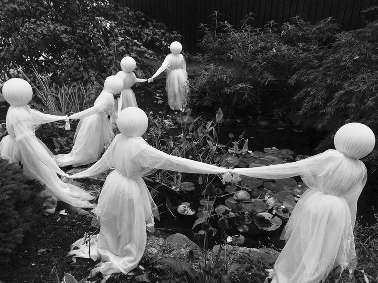 A coven of witches? A group of ghosts? Happy Halloween! Tree Women Outdoors Togetherness Nature Halloween Ghost Witch This Is Queer