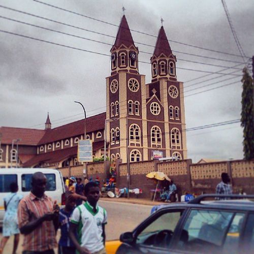 St. Peter's Basilica in Kumasi . Double tap if I've seen this Cathedral before. Catholic Ghana Ghana360 Instaaday Photooftheday Aphotoaday
