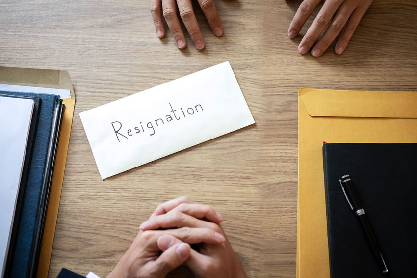 Resign Resignation Interview Hiring Recruitment Remuneration Requirement Job Employee Quitting Executive  Letter Manager Employment Contract Dismiss Failure  Layoff Pressure Professional Resources Jobless Rejection Appointment Enterprise