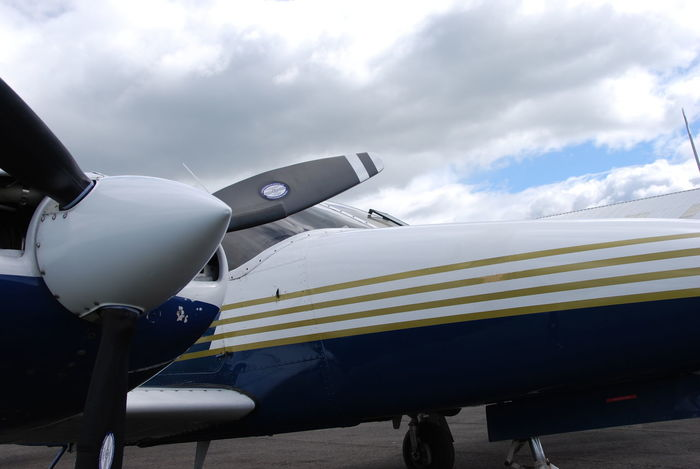 Piper aircraft parked on ramp at Perth, Scotland (EGPT) Aircraft Airplane Airport Day Flying Outdoors Perth Piper Propeller Scotland Sky