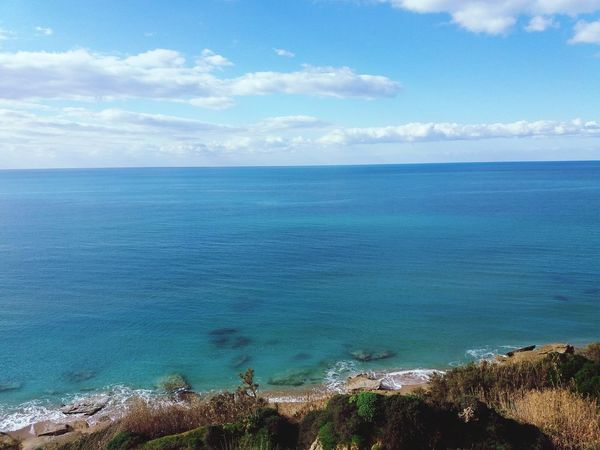 Sea Blue Cloud - Sky Horizon Over Water Beauty In Nature Outdoors Beach No People Ribera Sicily December Sicily ❤️❤️❤️ Hiking Pietre Cadute Sicily Sea And Sky Sky And Clouds Mediterranean  Horizon Landscape