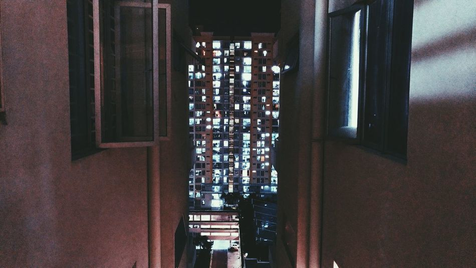 City Lights EyeEmNewHere Window Indoors  Architecture Built Structure No People Day Curtain Illuminated First Eyeem Photo Urbanphotography Urbanexploration Nightphotography Urban Art Lights Urban Night Photography Citylights Close-up