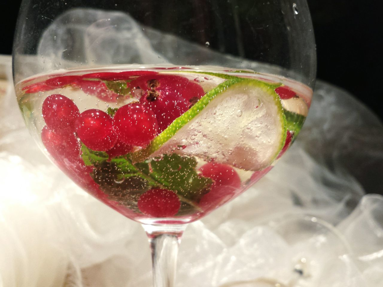 Low Angle View Of Cocktail In Glass