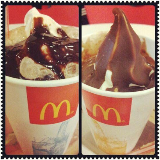 Midnyt snack! McDo Cokefloat Sundae dipped oreo Gamotsaubo !