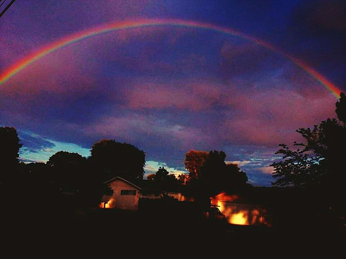 This rainbow was right over my house. Hello World Check This Out I Love It ❤