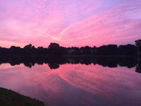 Sunset Münster Lake