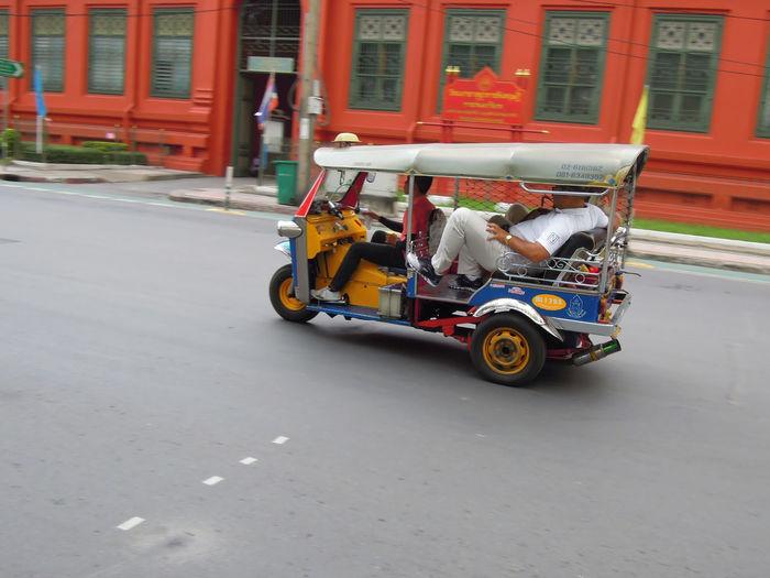 Motor scooter parked on roadside