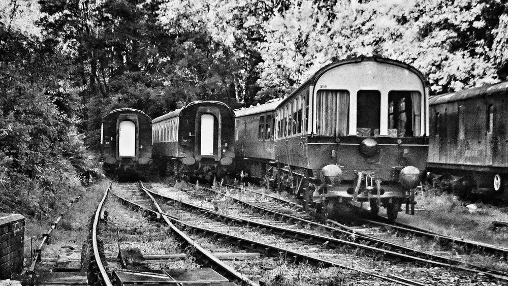Today's walk - Forest of Dean Railway Station Transportation Railroad Track Rail Transportation Track Blackandwhite No People Railway Track Black And White Photography Railway Old Welcome To Black