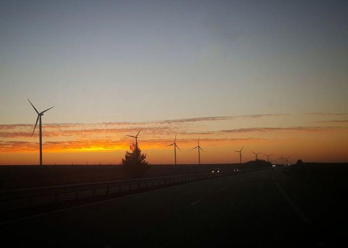 Sunset on A5