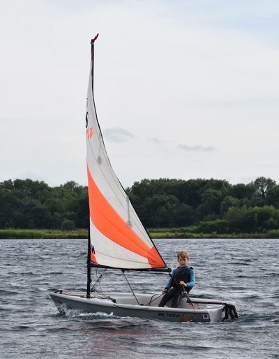 RS Tera sailing at Bowmoor Sailing Club