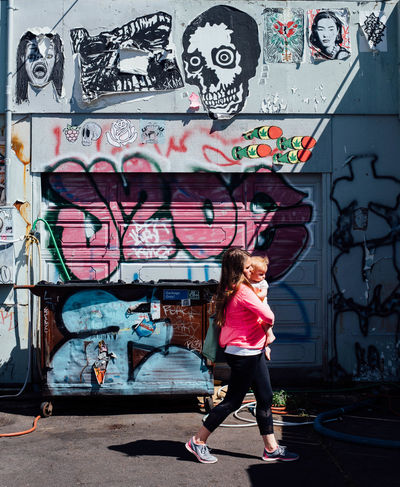 Portland, Oregon July 2016 Graffiti Lifestyles Outdoors Streetphotography Young Adult Young Women