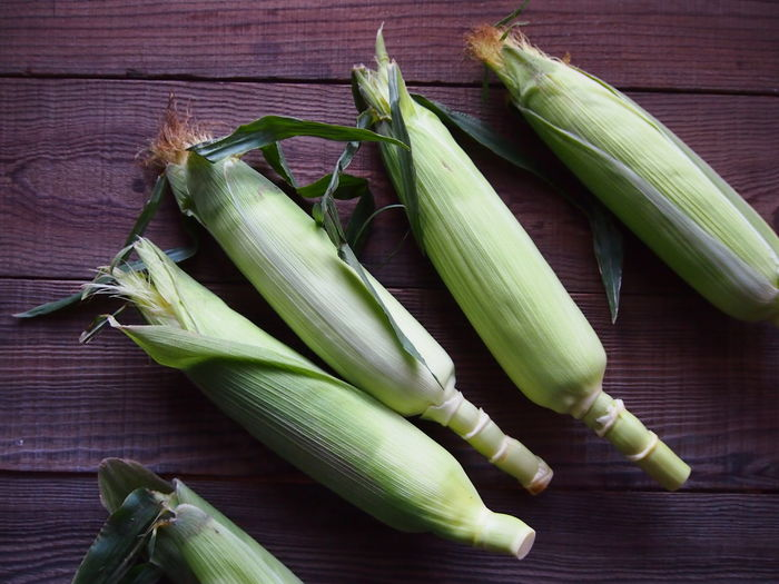 Lunch Weekend Brunch Close-up Corn Corn On The Cob Crops Directly Above Food And Drink Freshness Healthy Eating High Angle View Seasonal Still Life Summer Table Vegetable Vegetarian Food Wellbeing