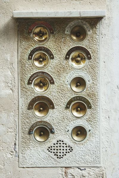 Venice Italy Europe Travel Architecture Buzzer Detail Buttons Ringer Beautifuly Organised Beautifully Organized