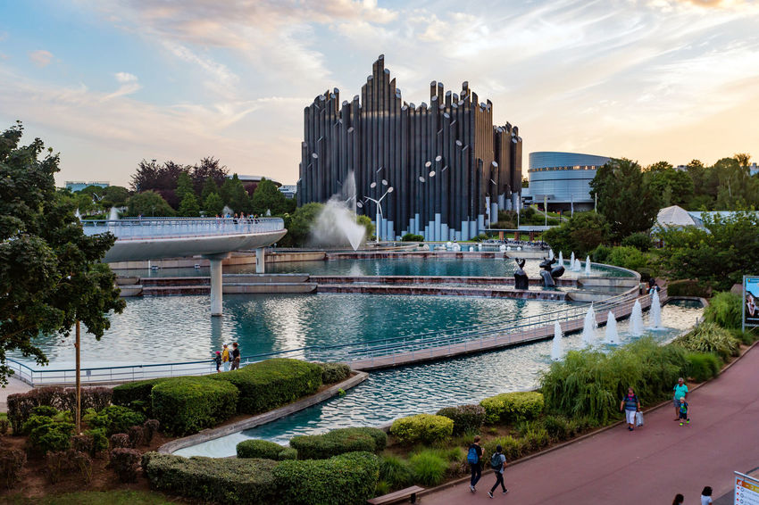 Futuroscope Theme Park Futuroscope Theme Park | Poitiers - France Futuroscope2017 Leisure Park Modern Architecture Architecture Building Exterior Built Structure City Cloud - Sky Day History Nature No People Outdoors Panoramic Sky Tree Water