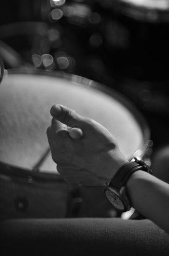 Close-up of man hand