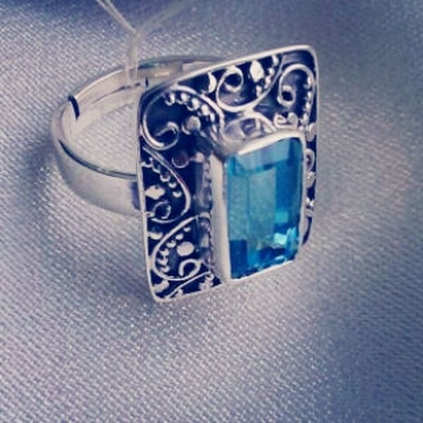 Check This Out its my Silver Ring with Blue Opal Gemstones