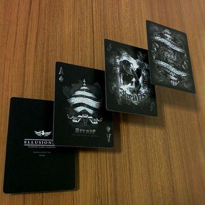 Arcane BlackArcane Playingcards Ace Spades Joker Ellusionist