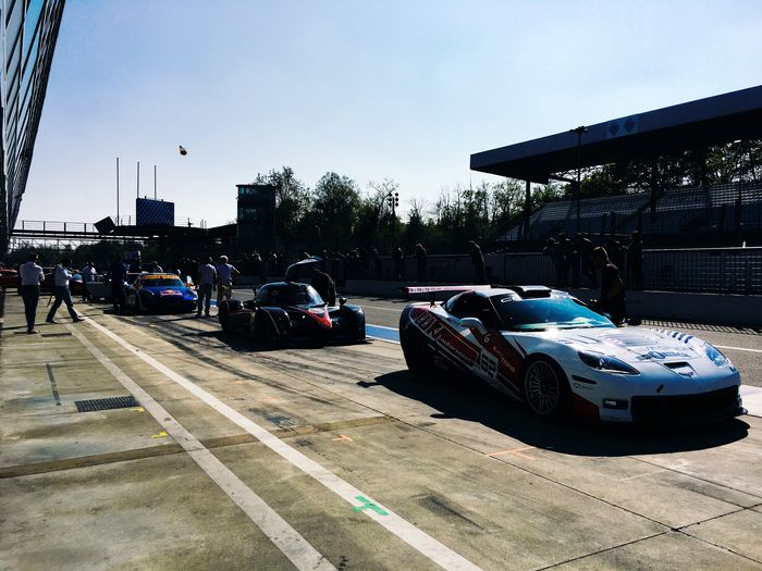 Ready for the race... Clear Sky Outdoors Mode Of Transport Racecar Motorsport Road Building Exterior Autodromo Walking Around From My Point Of View Eye4photography  in Monza