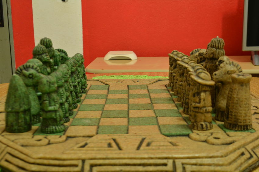 Statue Cultures Chess Chessboard Pieces