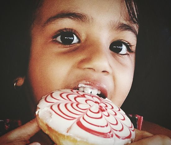 Cream donut for breakfast! Donut ChildBreakfast Kochi Cochin Kerala India Yummy Food Timeforbreakfast Time For Breakfast  Fine Art Photography Color Of Life Colour Of Life Home Is Where The Art Is